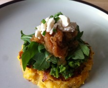 Grilled Polenta with Butternut Squash and Arugula Pesto