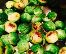 Mustard Glazed Brussel Sprouts